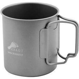 TOAKS Titanium 450ml Cup with Folding Handles - CUP-450 - Ou