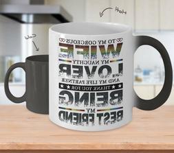 To My Gorgeous Wife - Color Changing Mug - Coffee Mug Tea Cu