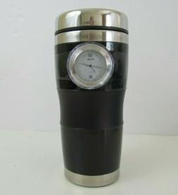 Time Mug Travel Cup Built-in Watch ~ Dishwasher Safe