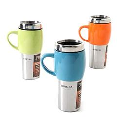 Mr. Coffee Traverse 16 oz Stoneware/ Stainless Steel Travel