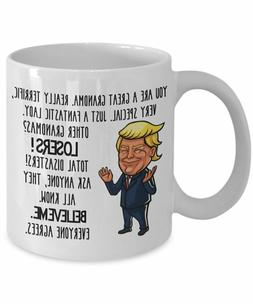 Trump Grandma Mug Gift Mothers Day Gifts for Women Gifts for