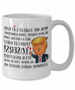 Trump mug cat dad mug - Funny Mug - Gift Mug - Mugs - donald
