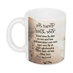 Trust in the Lord Beach Proverbs 3:5-6 KJV 11 Ounce Ceramic