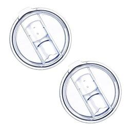 20 Oz Tumbler Lids, 2 Pack of Spill-Proof Splash Resistant L