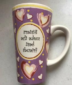 Tumbleweed Pottery Tall Mug Sisters Make the Best Friends Va