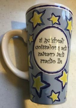 "Tumbleweed Pottery Tall Mug ""Teaching is the profession th"