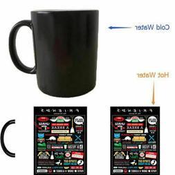 TV Show Friends mugs coffee mug changing color Heat reveal m