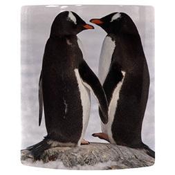 InterestPrint Two Gentoo Penguin in Love Holding Hands Heat