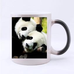 Two Panda Bears Custom Mug - Ceramic Morphing Mug - 11 OZ Co
