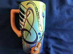 Under $10.00 Spoontiques Music Travel Mug, Multi Colored Bra