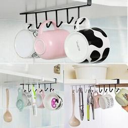Under Shelf Coffee Cup Mug Holder Hanger Storage Rack For Ho