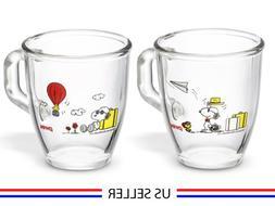 SNOOPY PEANUTS X CORELLE / Pyrex Snoopy Mug Cup 2 Piece Set