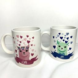 0b79f58d85 Editorial Pick Llama Couple Ceramic Coffee/Beverage Mug/Cup His And Hers Se