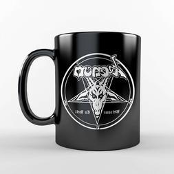 Venom Welcome To Hell Black Coffee Mug Cup Metal Satanic Ban