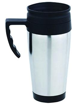 Home Basics VF00178 Stainless Steel Travel Coffee Mug, Silve