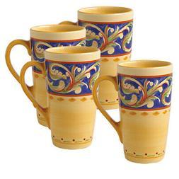 Pfaltzgraff Villa Della Luna Set of 4 Latte Mugs, 20-Ounce