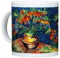 Vincent Van Gogh - Fritillaries In Copper Pot - 14oz Coffee