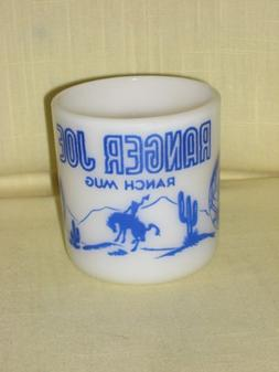 Vintage 1950's Blue Hazel Atlas Ranger Joe Ranch Mug Child C