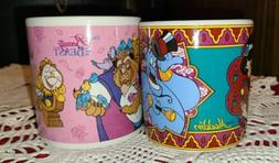 Vintage Disney Beauty And The Beast And Aladdin Ceramic Coll