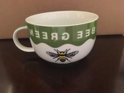 Vintage Bee Green Honey Bumble Soup Mug Coffee Cup Bee Keepe