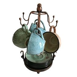 Creation Core Vintage Bronze Iron Coffee Cup Holder Storage