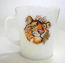Vintage Esso Fire King Tiger Coffee Mug