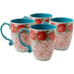 The Pioneer Woman Vintage Floral 26 oz Jumbo Latte Mug Set S