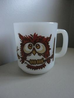 Vintage Glasbake Owl Mug