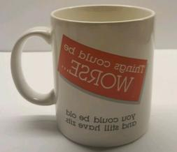 Vintage Hallmark 'Things Could Be Worse' Coffee Mug New In B