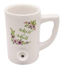 Island Dogs Wake and Bake All in One Floral Ceramic Mug Coff
