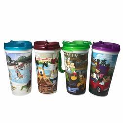 Walt Disney Vintage Whirley Warren Cups Lot of 4 Insulated T
