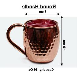 WC_100% Copper Moscow Mule Mug Solid Copper Classic Round ha