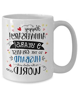 9th Wedding Anniversary Gifts For Him - Greatest Husband Mug