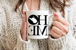West Virginia Mug State Mug Coffee Mug Home Mug Homesick Gif