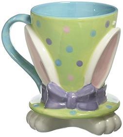 Whimsical Easter Bunny Rabbit Top Hat 16 Ounce Coffee Mug/Cu