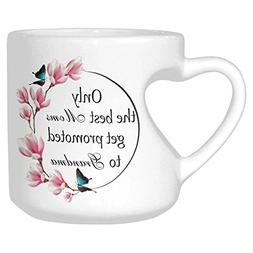 InterestPrint White Ceramic Only The Best Moms Get Promoted