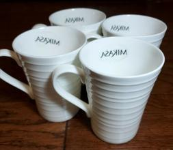 Mikasa White Ciara Mug Set/4 Coffee Cup NEW! Bone China Fast