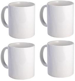 White Plain Coffee Mug Made of Ceramic - 11 oz each - PACK O