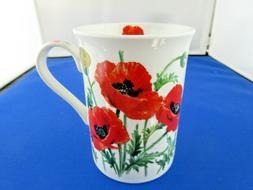 WILD POPPY FINE  CHINA 10 oz mug from LEONARDO COLLECTION  F