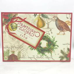 Williams Sonoma Christmas Carols Coffee Tea Mugs Set of 6 Br