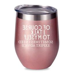 ALISISTER Wine Tumbler With Sayings Mug Insulated Stainless