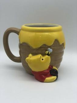 Disney Winnie the Pooh Hunny Pot 3D Ceramic Travel Mug Coffe