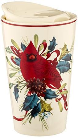 Lenox Winter Greetings Porcelain Top Travel Mug
