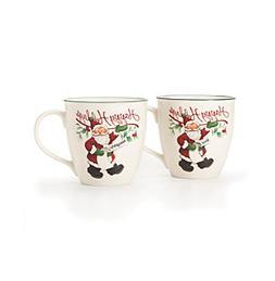 Pfaltzgraff® Winterberry Naughty and Nice Set of 2 Mugs