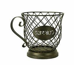 Wire Coffee Mug Storage Basket Espresso Pod Holder Kitchen C