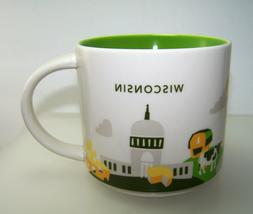 Starbucks Wisconsin Coffee Mug You Are Here Collection YAH 1