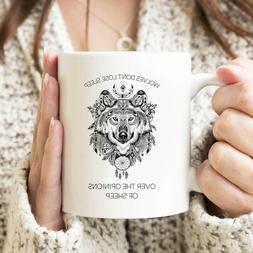 Wolves Don't Lose Sleep Coffee Tea Drink Mug Ceramic Funny C