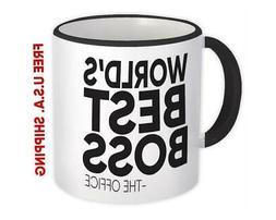 Worlds Best BOSS : Gift Mug the Office Dunder Mifflin Work F