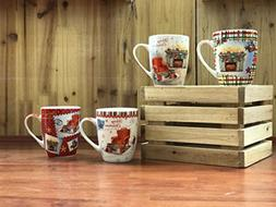 All For You X972 Christmas New Bone China Mug with Christmas