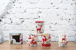 All For You X977 Christmas New Bone China Mug with Christmas